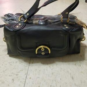 Coach Campbell Leather Black Satchel Bag Purse